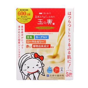 噂のコスメ 豆腐の盛田屋 豆乳よーぐるとしーとますく玉の輿(赤のエイジングケア)  23mL×5袋【特価商品】